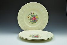 "Wedgwood Wellesley Tintern Ivory Floral Dinner Plate 10 7/8""- Set of 3"