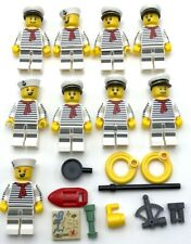 Lego 9 New Sailor Minifigures Ship Captain Figures Crew and Accessories