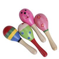 Maracas en bois bébé enfant jouets cadeau shaker instrument de musique 1pz