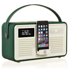 VQ Retro Mk II DAB Digital FM Radio Bluetooth Apple Lightning Dock Verde Esmeralda