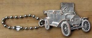 RARE 1907 FORD MODEL T SILVER PLATED KEYCHAIN L@@K MODEL T FORD VERY NICE #G921