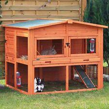 Deluxe Outdoor Rabbit Hutch Cage With Run Home Garden Patio Shelter Weatherproof