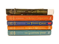 Lot of PERCY JACKSON Books - COMPLETE Series - Volumes 1-5 - PB