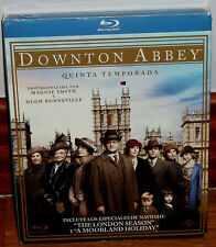 Downton Abbey 5ª Saison Complète 4 Blu-Ray Neuf Slipcover (sans Ouvrir) R2