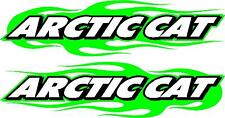 "Arctic Cat snowmobile trailer flame sticker decal set 2.5"" x 11"" left & right"