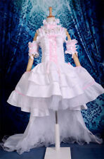 Anime Chobits Chi Pink White Evening Dress Cosplay Costume Customized