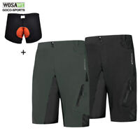 Mens Baggy Cycling Shorts Loose-fit Downhill MTB Mountain Bike 1/2 Pants Sports