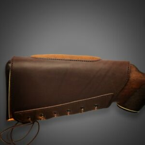 Leather Buttstock Cover Leather Shotgun Cuff Cheek Rest Padded Rifle Cover