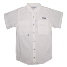 Columbia Boy's PFG Small Stream S/S Woven Shirt (Retail $30)