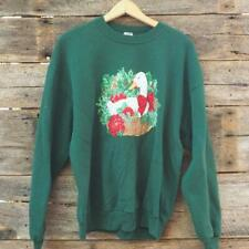 Vintage Jerzees Duck Ugly Christmas Sweatshirt Size XL