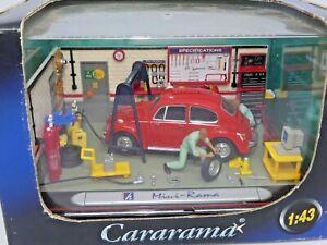 Mini Rama Red Volkswagen Beetle Workshop Scale 1:45 No. 201-01 Diorama