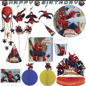 Spiderman Kindergeburtstag Web Kinder Party Set Partygeschirr Dekoration Deko