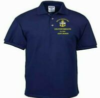 USS PORTSMOUTH  CL-102  CRUISER NAVY EMBROIDERED LIGHT WEIGHT POLO SHIRT