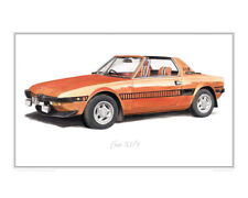 Fiat X1/9 (orange) - Limited Edition Classic Car Print Poster by Steve Dunn