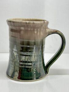 Handmade Ceramic Pottery Mug Brown & Green Glaze