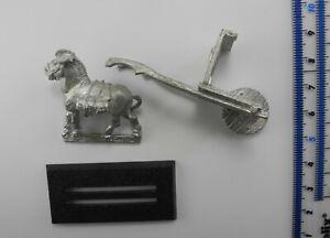 Incomplete BUGMAN'S CART + PONY Metal C22 Dwarfs Army Parts Warhammer 1980s 43