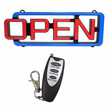 "Led Open Sign with remote control ( 22""W x 7.5""H x 2""D )"