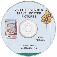 Vintage Events and Travel Poster Images!  - 900+  images on CD