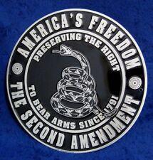 2ND AMENDMENT - America's Freedom - Embossed Tin Sign - Man Cave Garage Bar Shop