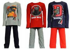 Boys Dragons Long Sleeve Cotton Pyjama Set/Nightwear Age 4-9 Years
