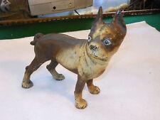 Vintage Hubley Boston Terrier Bulldog Cast Iron Doorstop Original Paint