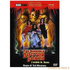 Ted Nicolaou-The Horrible dr. Bones-Cult Zombie Film-NEW SEALED DVD