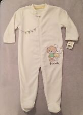 BABY BNWT IVORY UNISEX COSY FLEECY ALL IN ONE WINTER SUIT 9 - 12 MONTHS XMAS