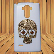 3D Fashion Bronze Retro Skull Punk Rivet Stud Back Hard Cover Case for Phones
