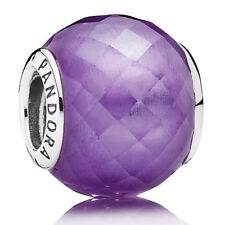 Authentic Pandora Purple CZ Petite Facets 791499ACZ Charm Bead