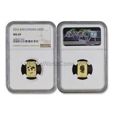 Canada 2016 $25 Gold Bar NGC MS69 SKU#6720