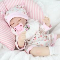 "Reborn Baby Dolls Lifelike Newborn Artist Handmade 16"" Sleeping Girl Doll Gifts"