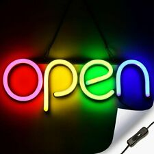 Led Neon Open Sign Light for Business with On & Off Switch - Red Yellow Green.
