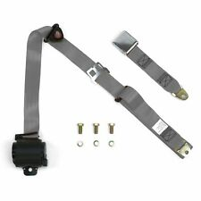 3Pt Gray/Grey Retractable Seat Belt Airplane Buckle - Each