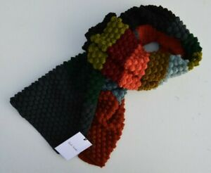 PAUL SMITH Signature Stripe Artist wool scarf crochet scarve