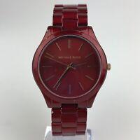 Michael Kors Slim Runway Women's Stainless Steel Watch - 42MM Red MK3895 READ
