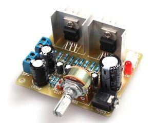 KIT Amplificatore Audio DIY TDA2030A Stereo Potenza 15W+15W 12V