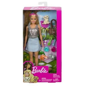Barbie Animal Lovers Playset with Puppy and Bunny