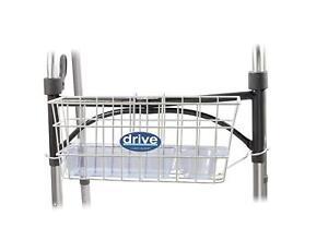 Walker Shopping Storage Metal Wire Basket White Drive Medical w Drink Cup Holder