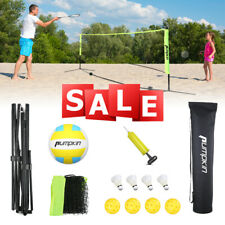 17 Feet Badminton Volleyball Tennis Net Set with Stand/Frame Carry Bag Portable