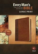 NEW Every Man's Bible NLT, Large Print, TuTone