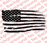 LARGE Distressed American USA National Flag Vinyl Decal Car Truck Window US020