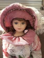 "Ashley Belle Fine Porcelain Doll 21"" tall Beautiful Layered Dress w/box"
