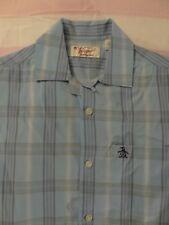 Penquin Mens Short Sleeve Plaid Shirt - S