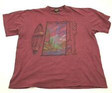 VINTAGE West Virginia Shirt Size Extra Large XL Red Tee Single Stitch 90's USA