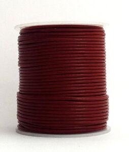 100m Lederband (0,33 €/1m) dunkelrot 1,5 mm stark 100 Meter auf Rolle/Spule