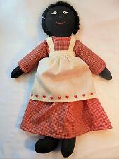 Vintage Handmade Black Americana Raggedy Ann Doll Signed 1988 Folk Art Country!!