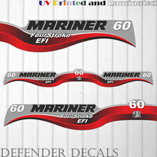 Mariner 60 HP EFI four stroke outboard engine decal sticker set kit reproduction