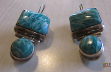 Sterling Silver and Amazonite Dangle Earrings