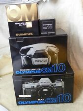 COLLECTORS Olympus OM10 35mm Film Camera + f zuiko 50mm + case + manual adapter