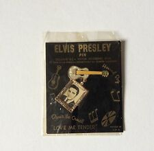 ELVIS PRESLEY- RARE FIFTIES EPE GUITAR PIN AND CHAIN-WONDERFUL ITEM